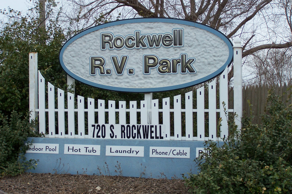 Rockwell RV Park sign